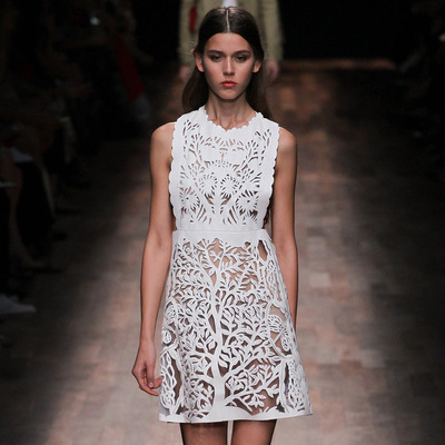 Valentino Spring 2015 Pinafore Dress with Cut-out Design