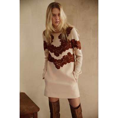 Chloé Pre-Fall 2015 Woven Sweater Dress