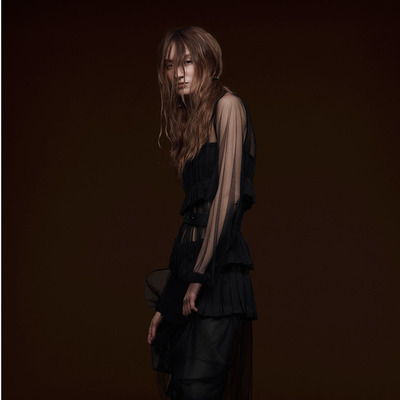 Vera Wang Pre-Fall 2015 Black Tulle Dress
